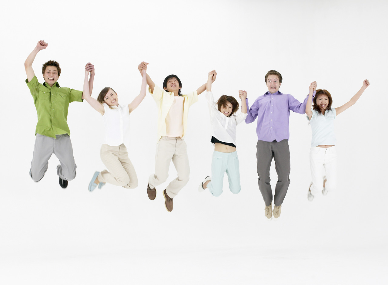 Picture of kids jumping